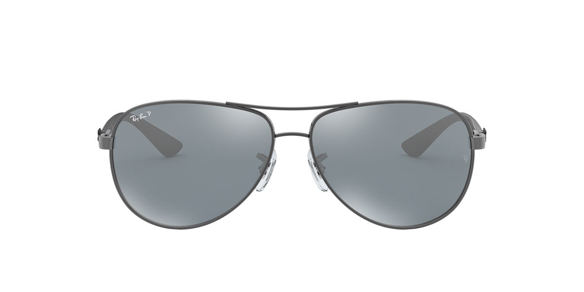 e37f0870415 Ray-Ban RB8313 58 CARBON FIBRE 58 Polarized Silver Mirror   Gunmetal ...