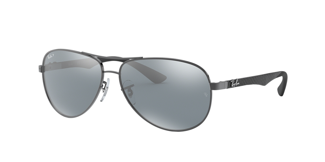 3935101110 Ray-Ban RB8313 58 Polarized Silver Mirror   Gunmetal Polarised ...