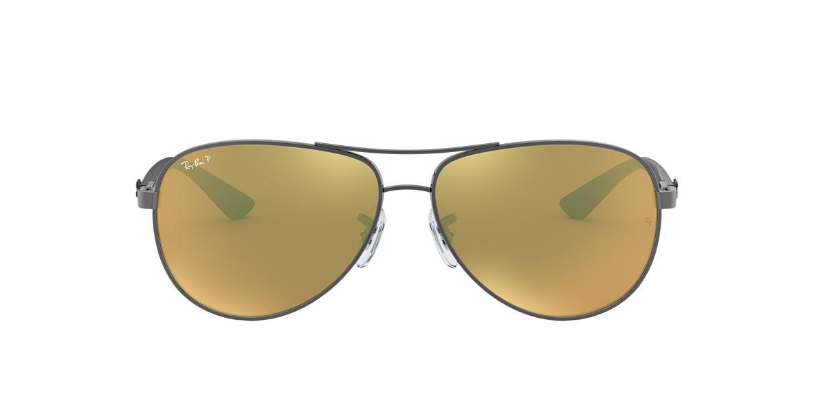 Gunmetal RB8313 Polarized Gold Mirror  58