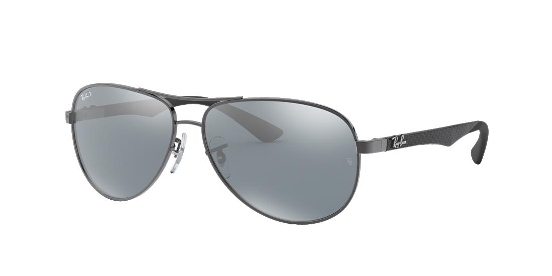 24f096156ae Frame  gunmetal. Lenses  polarized silver mirror. PDP Product Image
