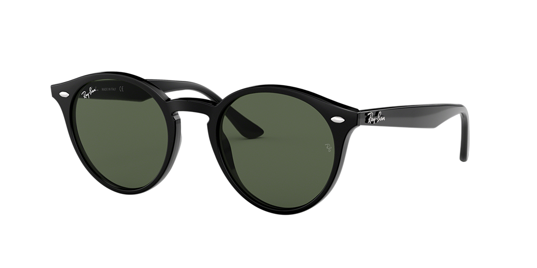 c232c43668 Ray-Ban RB2180 ROUND 49 Green Classic   Black Sunglasses