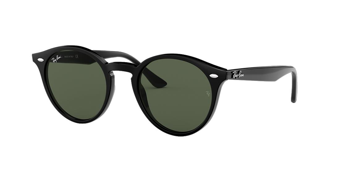 c232c43668 Ray-Ban RB2180 ROUND 49 Green Classic   Black Sunglasses