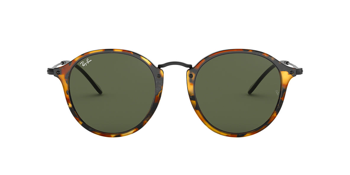 1931ad5db Ray-Ban RB2447 ROUND 49 Green & Tortoise Sunglasses | Sunglass Hut USA