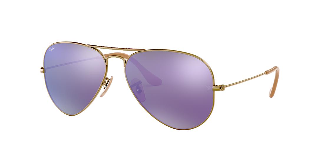 4d2f457df63 Ray-Ban RB3025 58 Violet Mirror   Bronze-Copper Sunglasses ...