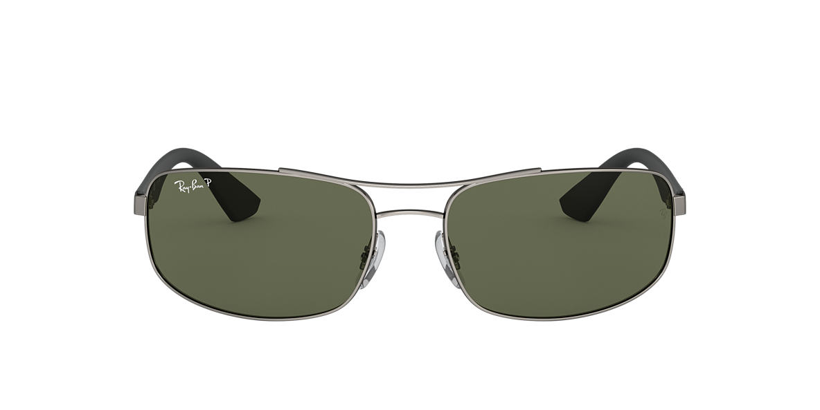 RAY-BAN Gun RB3527 Polarized Green Classic G-15 verre polarisé verres 61mm f57b6e40bb78