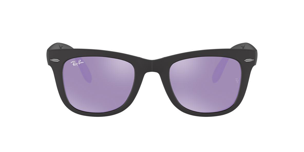 8b03544fe5f Ray-Ban RB4105 50 Lilac Mirror   Black Sunglasses