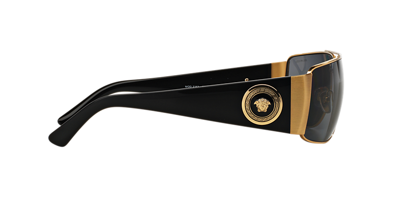 Versace VE2163 63 Grey & Gold Polarized Sunglasses | Sunglass Hut USA