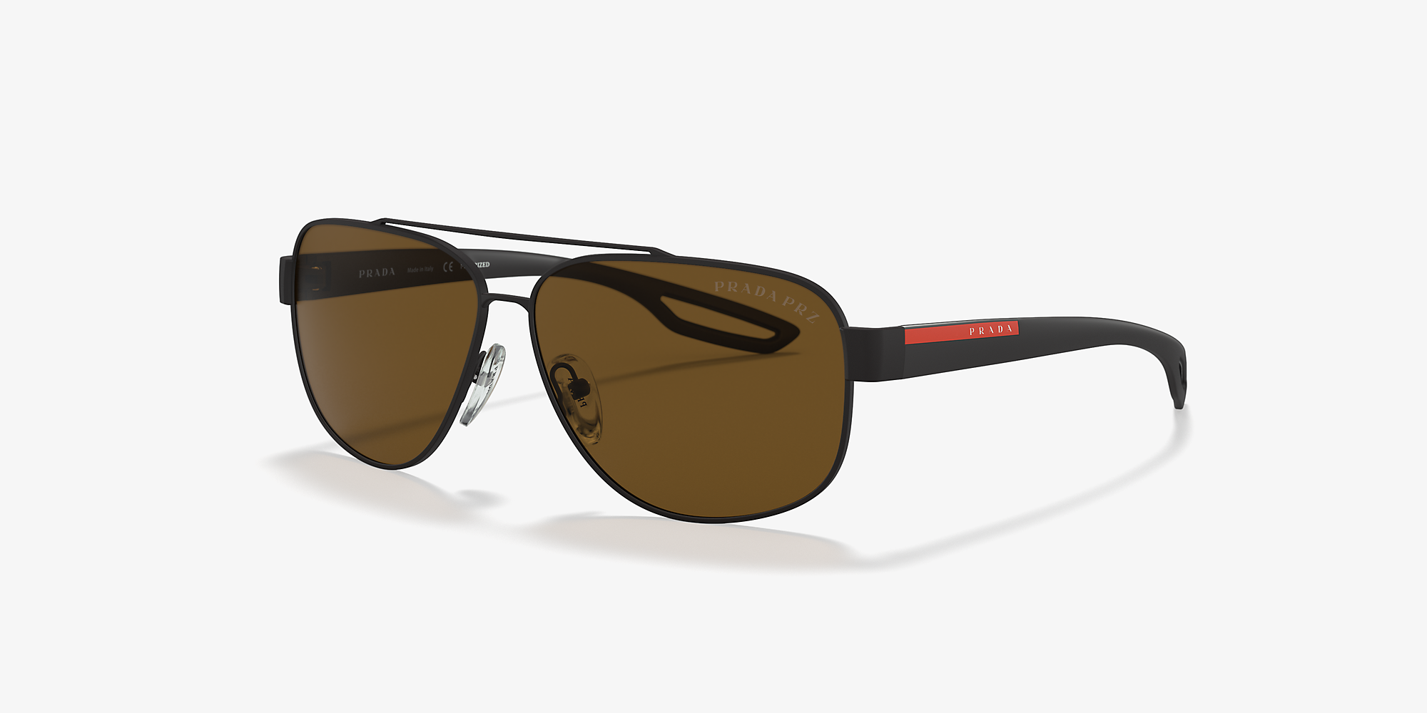 0acbd8f74bc3 Prada Linea Rossa PS 58QS 63 Brown & Black Polarized Sunglasses ...