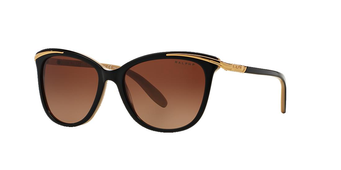 613e272234 Ralph RA5203 54 Brown   Black Polarized Sunglasses