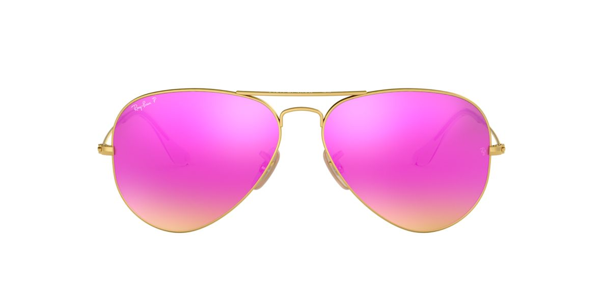 Ray Ban Rb3025 58 Original Aviator 58 Pink Gold Matte Polarized