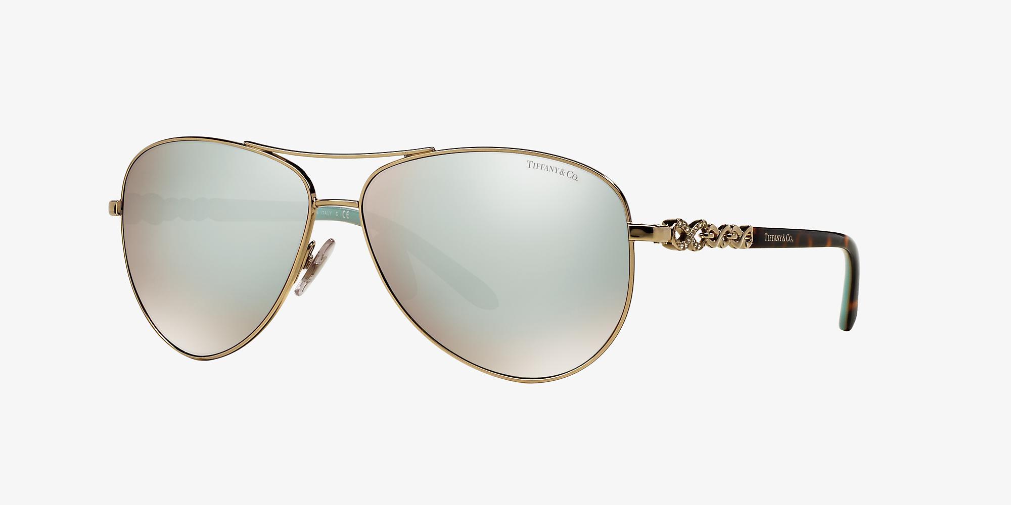 4e74aafa99d0 Tiffany TF3049B Tiffany Infinity 58 White & Gold Sunglasses ...