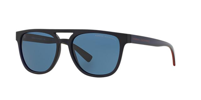 Image of Armani Exchange Ax4032f Blue Pilot Sunglasses 8053672464504