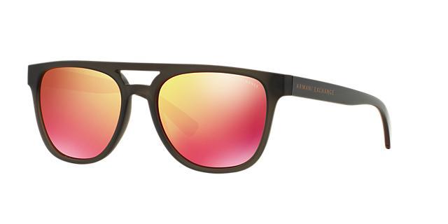 Image of Armani Exchange Ax4032f Black Pilot Sunglasses 8053672464511