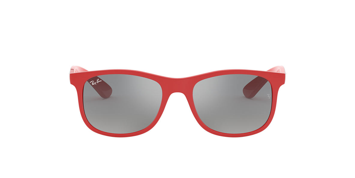 Ray-Ban RJ9062S 48 Grey Mirror   Rouge Lunettes de soleil   Sunglass ... 6caf1637a9d5