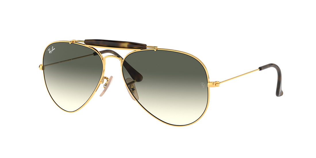 18804ce50e Ray-Ban RB3029 62 OUTDOORSMAN II 62 Grey Gradient   Gold Sunglasses ...