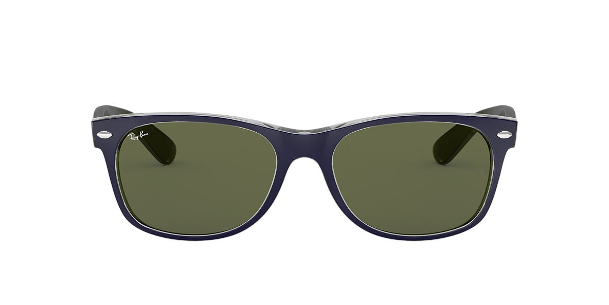 Blue RB2132 NEW WAYFARER BICOLOR Green  55