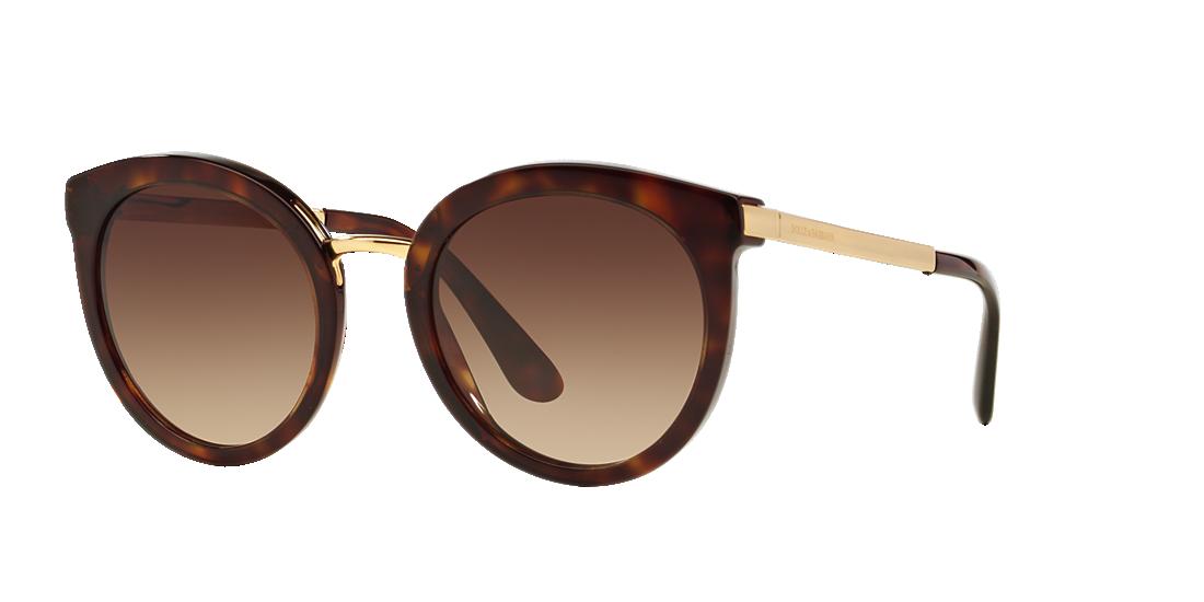 18b4e8879a3 Dolce   Gabbana DG4268 52 Brown   Tortoise Sunglasses