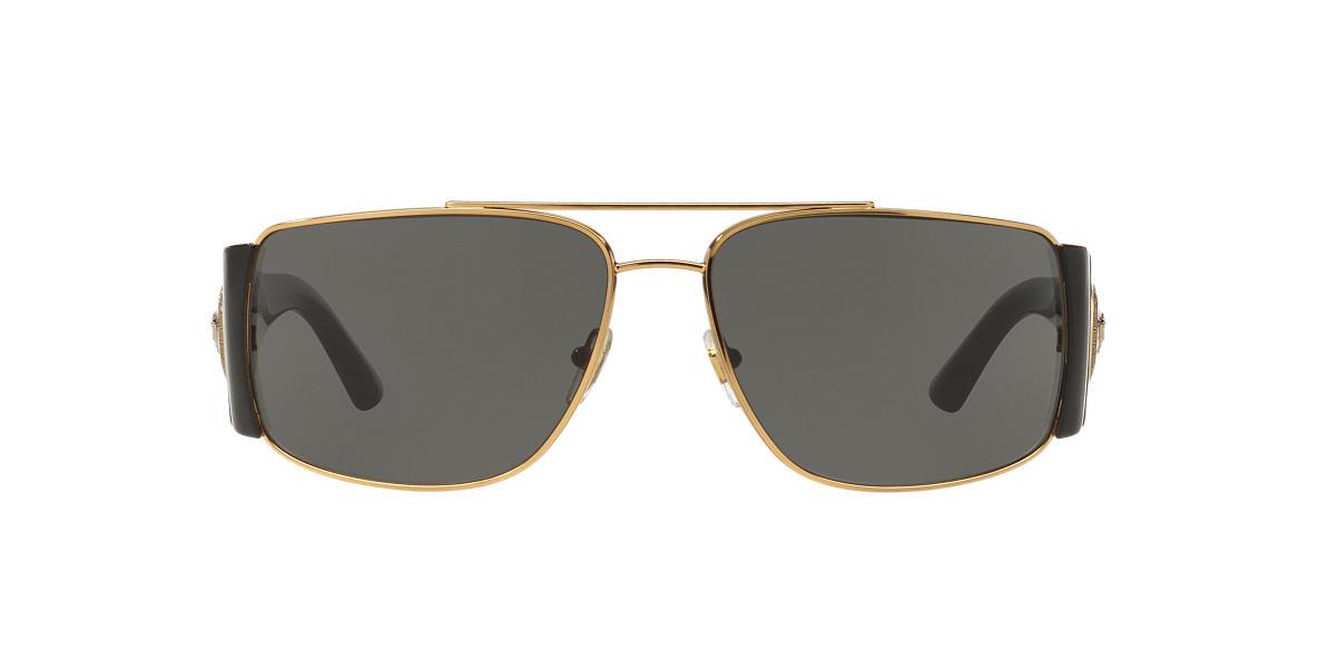 a7c1f01aefa Versace VE2163 63 Grey-Black   Gold Sunglasses
