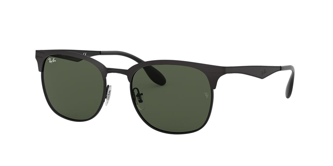 Ray-Ban Black Matte Square Sunglasses - rb3538