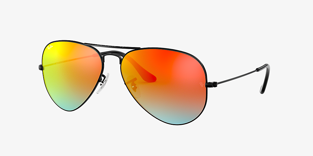 ray ban aviator orange polarized