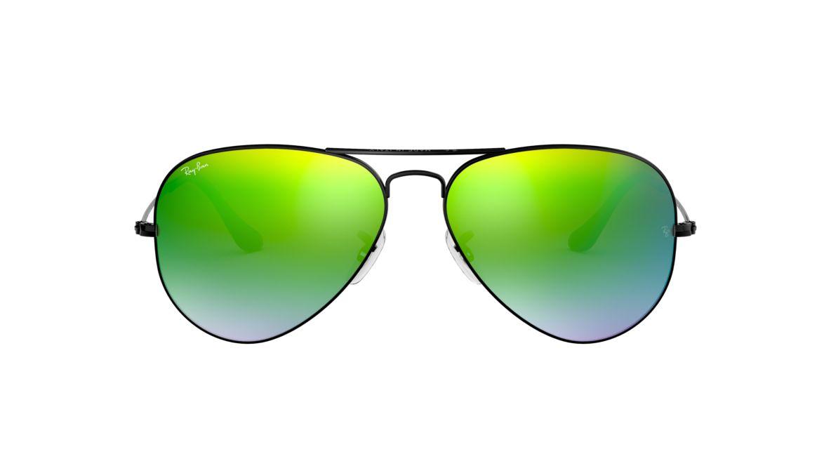 59d69574665d Ray-Ban RB3025 58 Green Gradient Flash   Black Sunglasses