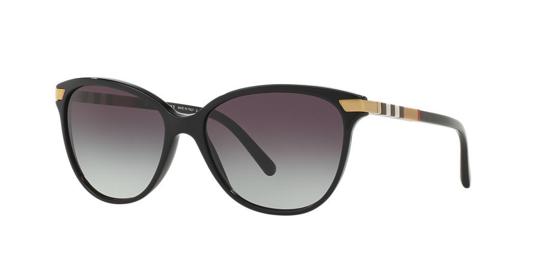 Image of Burberry Be4216f Black Cat Sunglasses 8053672563160