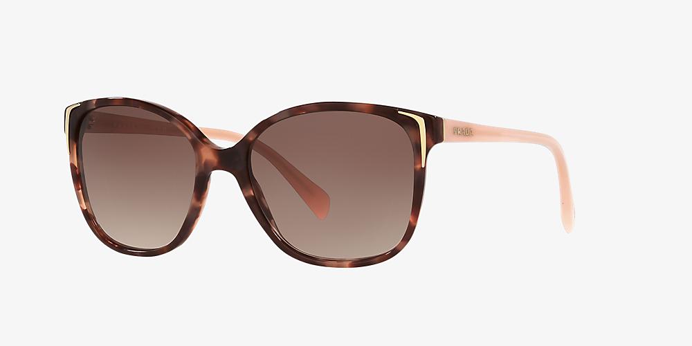 28ad76493c21 Prada PR 01OS 55 Brown & Pink Sunglasses | Sunglass Hut United Kingdom