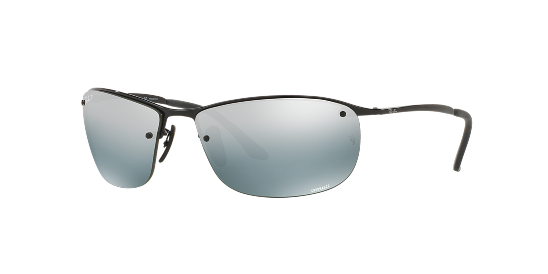 fbfbd545f6 Ray-Ban RB3542 63 Gray Mirror Chromance Polarized   Black Polarized ...