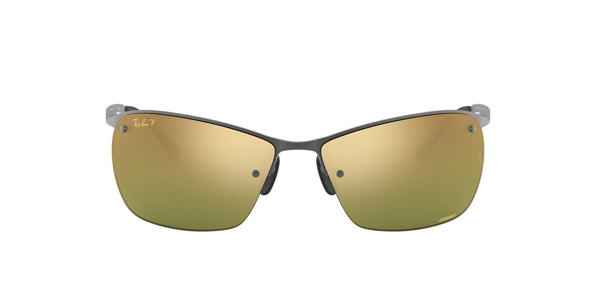 deee30cf45 RAY-BAN Gunmetal RB3544 Green Mirror Chromance Polarized polarised lenses  64mm