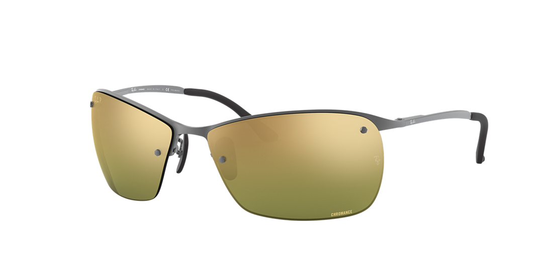 781b194137 Ray-Ban RB3544 64 Green Mirror Chromance Polarized   Gunmetal ...