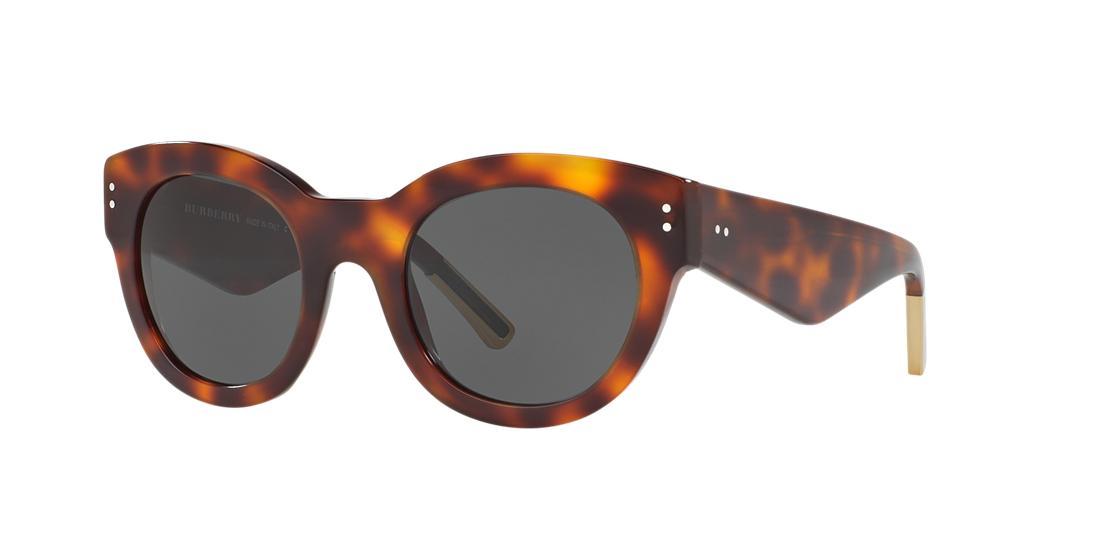Image of Burberry Be4229f Tortoise Round Sunglasses 8053672586558
