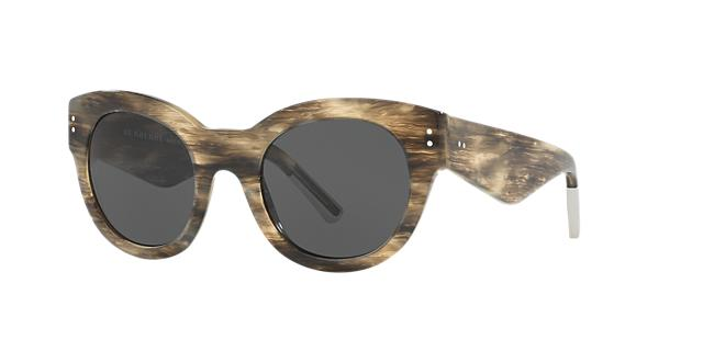 Image of Burberry Be4229f Silver Round Sunglasses 8053672586565