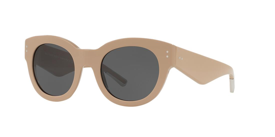 Image of Burberry Be4229f Tan Round Sunglasses 8053672586572