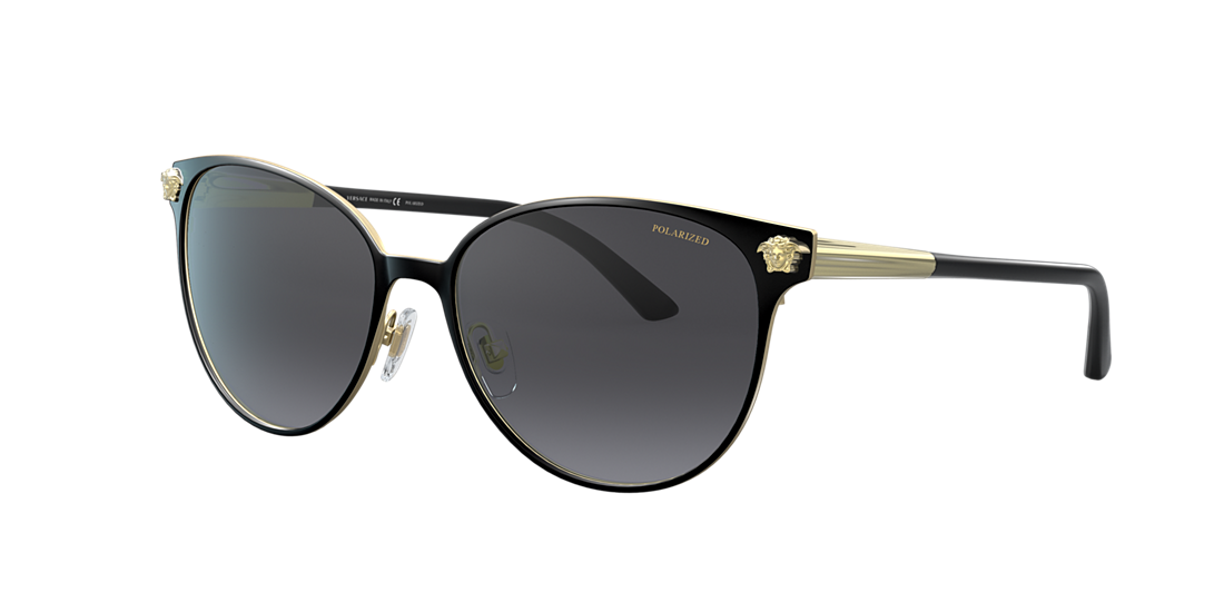 a7d8557eee Versace VE2168 57 Grey-Black   Black Polarized Sunglasses