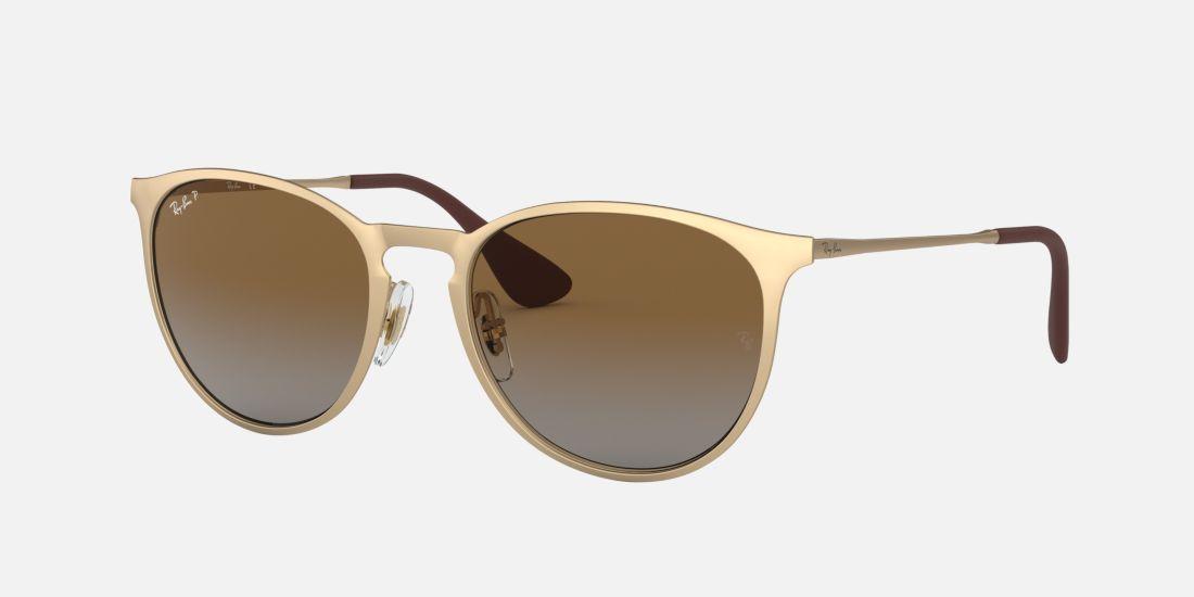 Ray-Ban null 54 Grey & Gold Polarised Sunglasses | Sunglass Hut ...