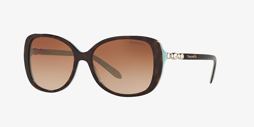 83841b3a3aa5 Tiffany TF4121B 55 Brown & Tortoise Sunglasses | Sunglass Hut South ...