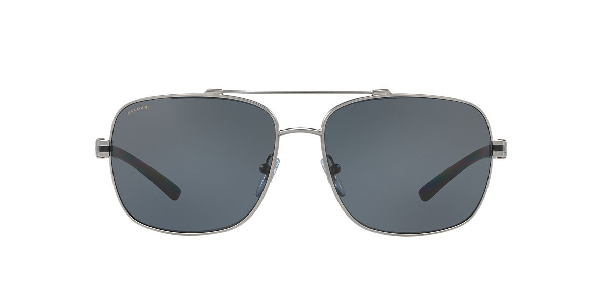 9dbd28a0302 Bvlgari BV5038 63 Grey-Black   Gunmetal Polarised Sunglasses ...