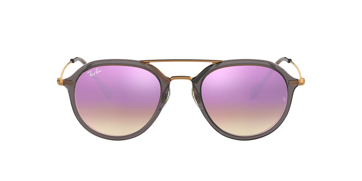 4526488ee59 Ray-Ban RB4253 53 Lilac Gradient Flash   Grey Sunglasses
