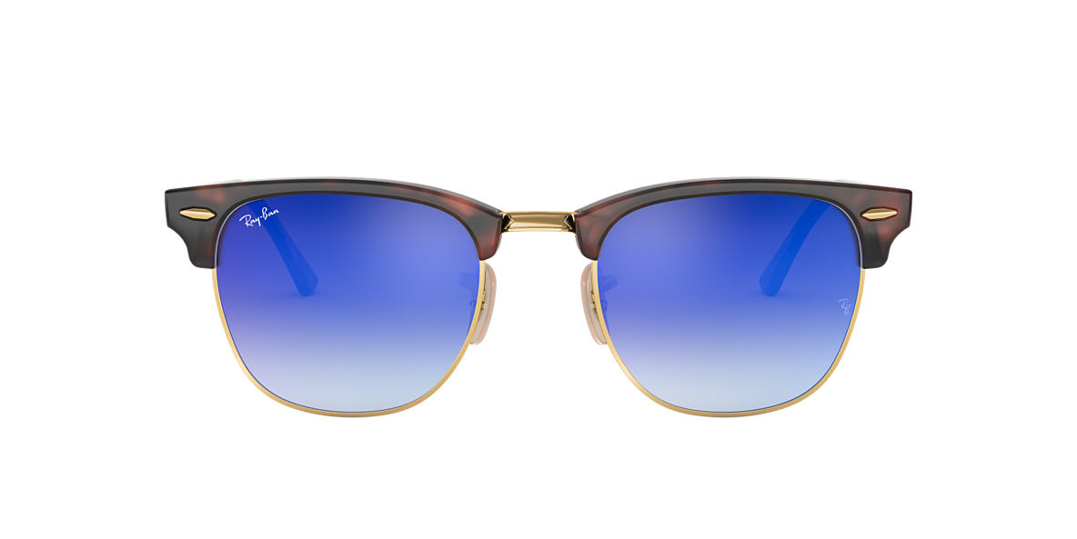 Tortoise RB3016 CLUBMASTER FLASH LENSES GRADIENT Blue Gradient Flash  51