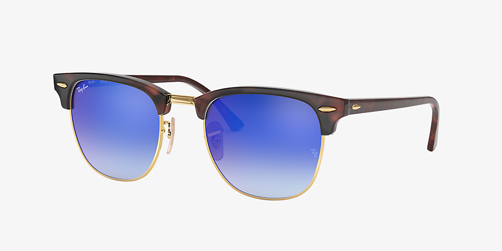 Ray Ban Sonnenbrille Clubmaster Flash Lenses Gradient Rosa