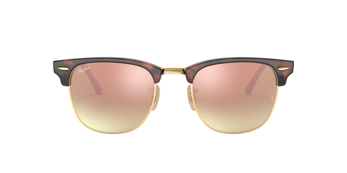 Tortoise RB3016 CLUBMASTER FLASH LENSES GRADIENT Copper  51