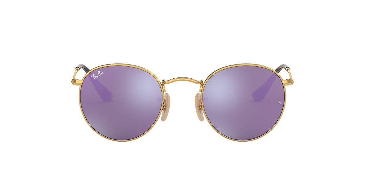 19aa82bea60 Ray-Ban RB3447N 50 Lilac Mirror   Gold Sunglasses