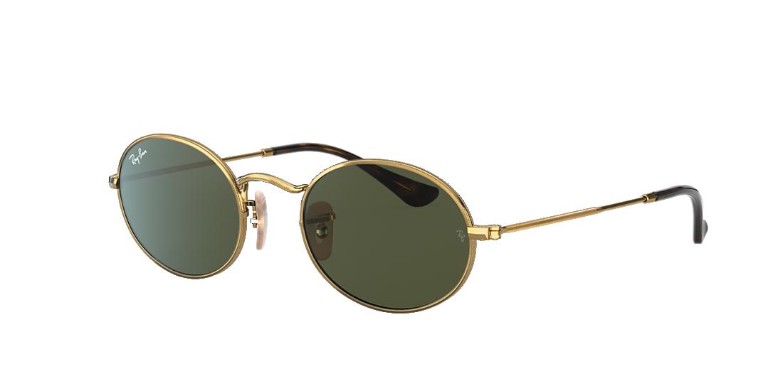 69d91c60be Ray-Ban RB3547N 51 Green Classic G-15   Gold Sunglasses