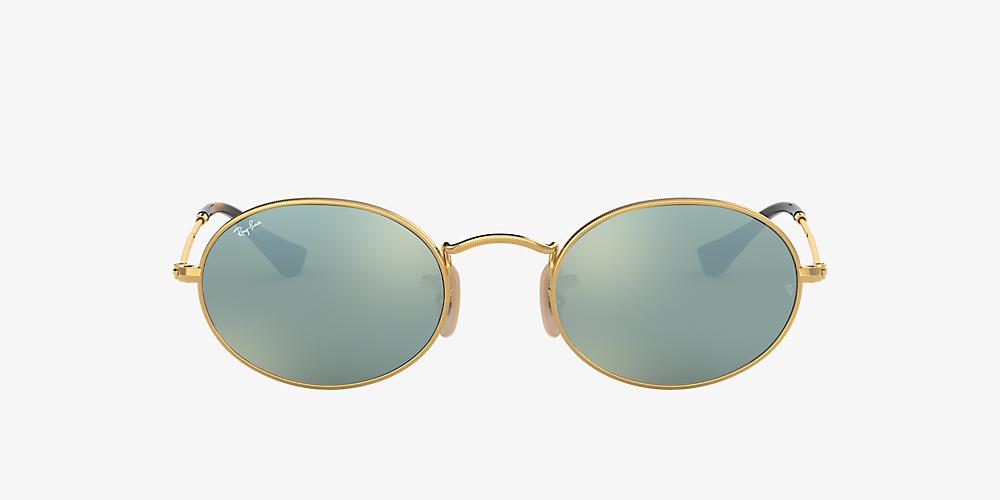 3bf78aec0 Ray-Ban RB3547N 51 Silver Flash & Gold Sunglasses | Sunglass Hut ...