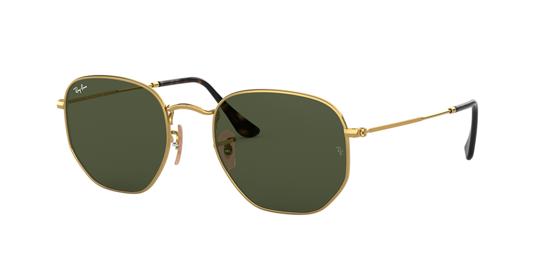 6bbe856c43062 Frame  gold. Lenses  green classic g-15. PDP Product Image
