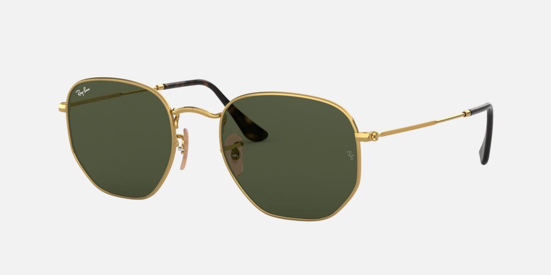 ray ban hexagonal flat lenses sunglass hut