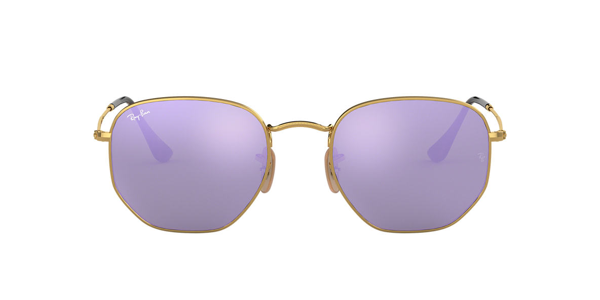 Gold RB3548N HEXAGONAL FLAT LENSES Violet  51