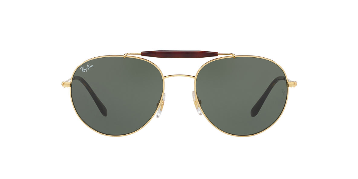 41afd0f5c1 Ray-Ban RB3540 56 Green Classic G-15   Gold Sunglasses
