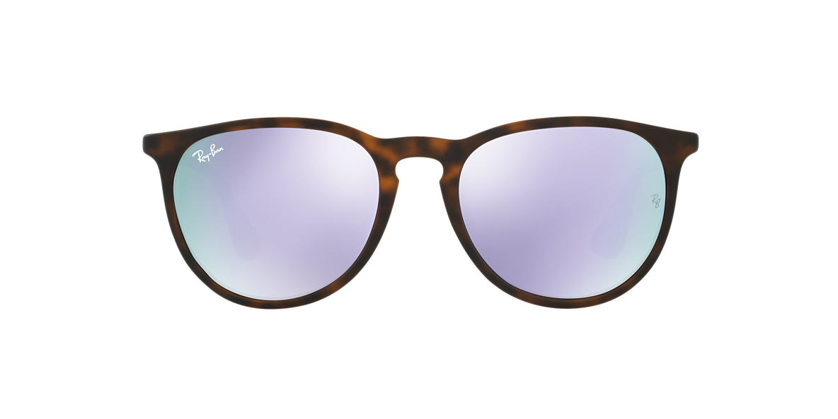 ec77689bda2 Ray-Ban RB4171 ERIKA 54 Lilac Mirror   Tortoise Sunglasses ...