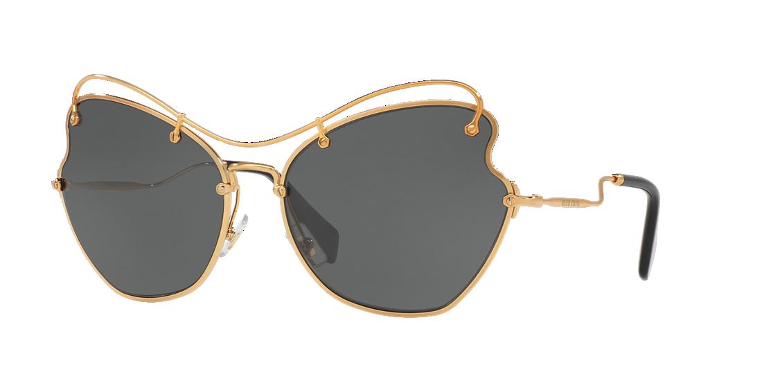 a36c62bf6c Miu Miu MU56RS 65 Grey-Black   Gold Sunglasses